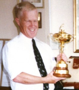 Peter Fry With The Ryder Cup
