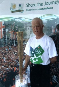 Olympic Torchbearer, Peter Fry from Weymouth, Dorset