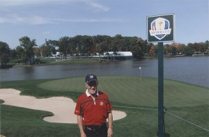 The Author Beside Second Green, Medinah Country Club